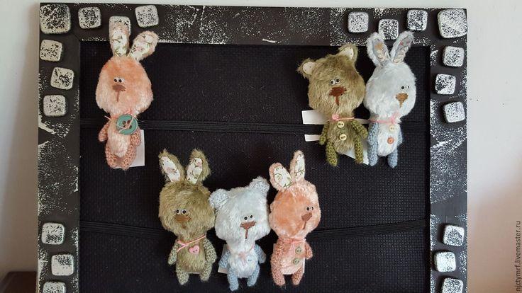 """Купить зверютки-малютки """"детство в кармашке"""" - комбинированный, румбокс, миниатюра, миниатюрный мишка, кукольная миниатюра"""