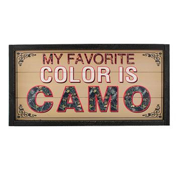 Montana Silversmiths My Favorite Color is Camo Wooden Sign