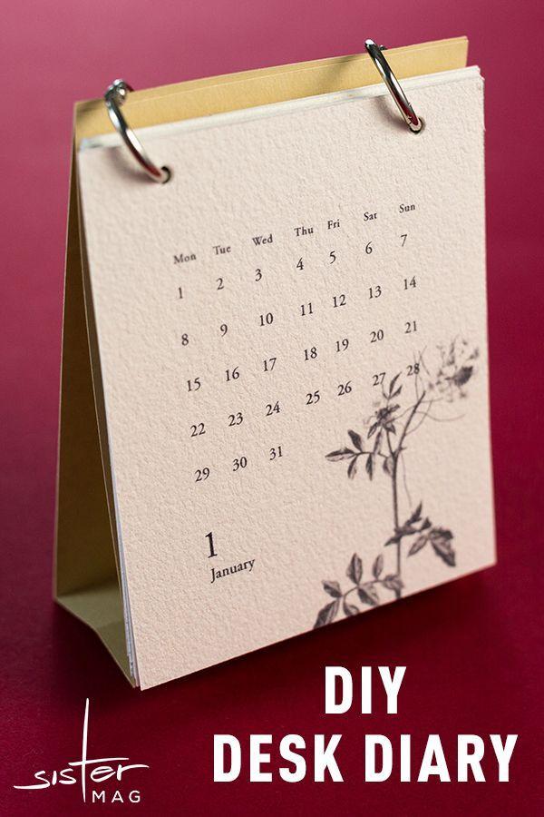 Diy Tischkalender Sistermag Kalender Basteln Kalender Selber Basteln Tischkalender