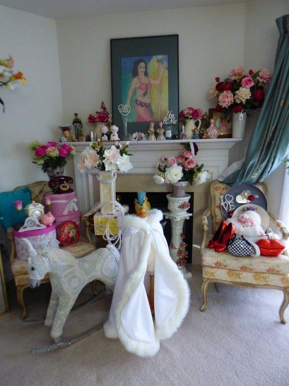 Snow White Classic Flower Girl Cape 30/35 -inch WHITE / WHITE Satin Junior Bridesmaid with Fur trim