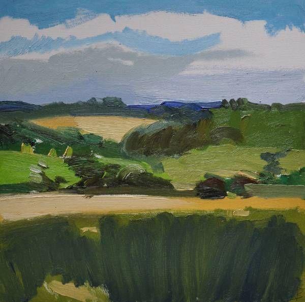 Across the Cornfield (Above Maenporth) | Lucie Bray
