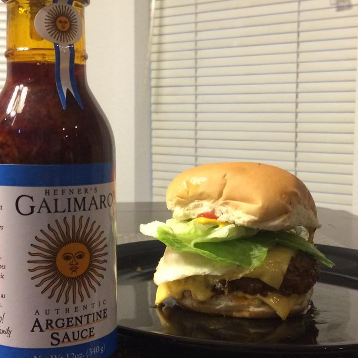 Use Galimaro Spicy Sauce on your burger to kick up the flavor!  Available at Culinary Kitchen, La Baguette or American Propane Co. in OKC or at the Meat House in Edmond!  Visit our website at www.galimarosauce.com