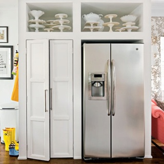 Pantry Next To Fridge Storage Above Useful Ideas