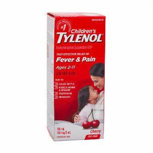 Children's Tylenol Fever & Pain 100ML Cherry
