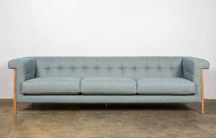 Mies Sofa is a contemporary take on a classic Chesterfield sofa. Can be custom made to size and choice of fabric or leather.