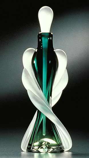 Art -                                                              Tapered Twist Perfume Bottle: Thomas Kelly: Art Glass Perfume Bottle | Artful Home