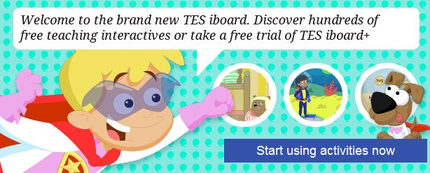 Home page for TES iboard, showing the latest news and resources