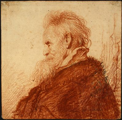 Head of an Old Man by Rembrandt (1631)