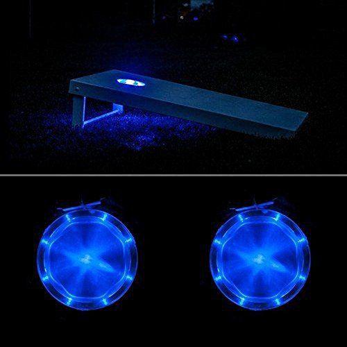 Gartenspiel Cornhole mit LED-Beleuchtung Spiel Bean Bag Gartenspielzeug Spaß