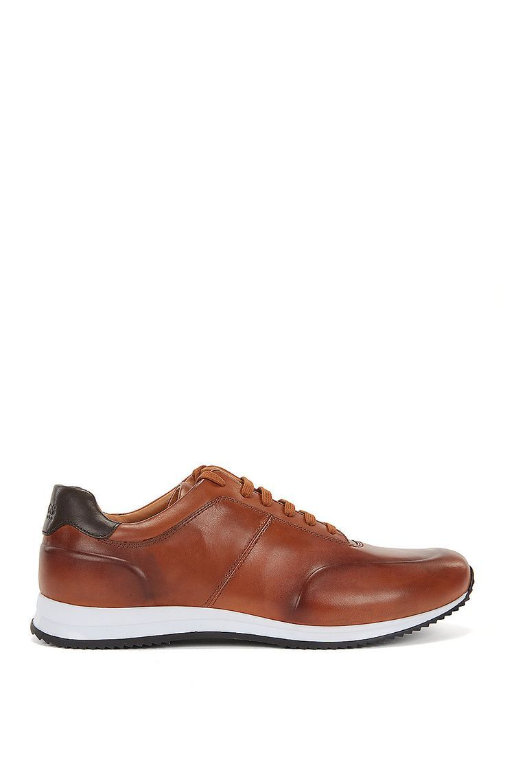 HUGO BOSS Lace-up trainers in polished