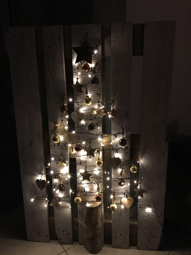 Diy kerstboom, gemaakt van pallet