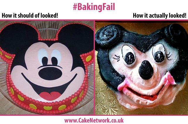 Mickey Mouse Cake Fail  #MickeyMouse