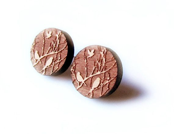 That Vintage Feathered Woodland  Earrings  by thatvintage on Etsy, $29.00