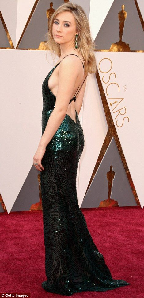 Making them all green with envy: Best Actress nominee Saoirse Ronan showed her sexy side i...