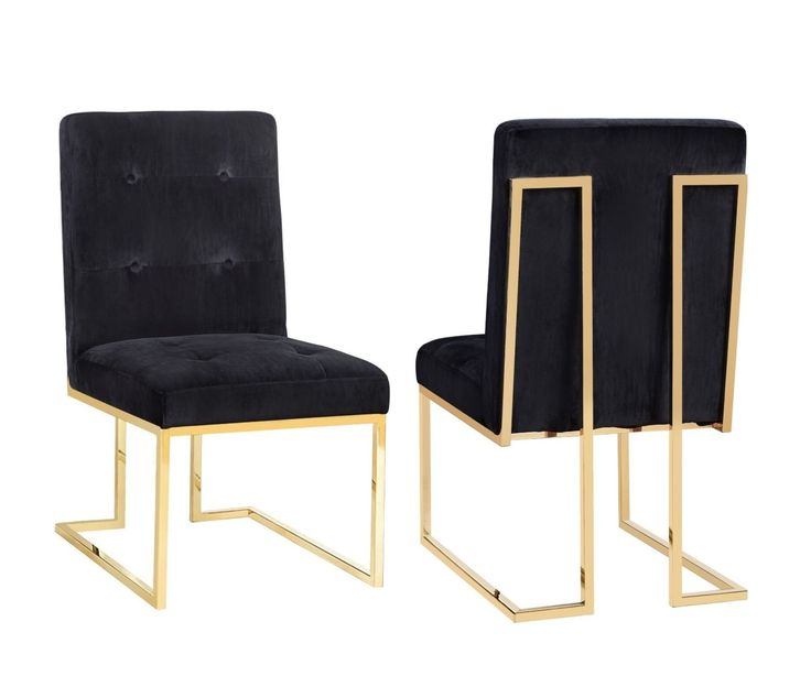 AKIKO Dining Chairs from TOV. Hollywood Glam Velvet and Gold