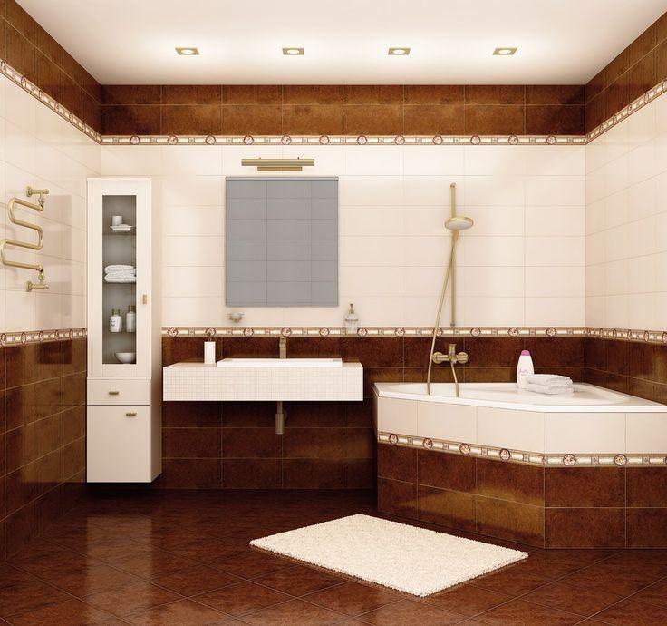 Дизайн плитки ванной комнаты, фото коллекции Elba.