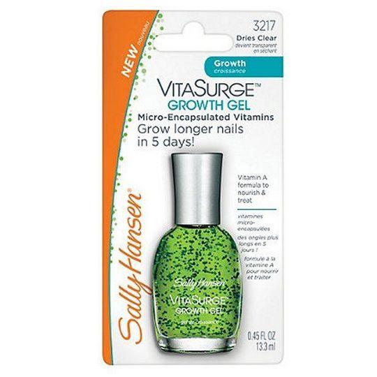 Δείτε τα νύχια σας να αναπτύσσονται μόνο σε 5 μέρες με το Sally Hansen Vitasurge Growth Gel! Εμπλουτισμένο με βιταμίνη Α που θρέφει και δυναμώνει τα νύχια, αποκτάτε υγιή και λαμπερά άκρα σε λίγες μόνο ημέρες.
