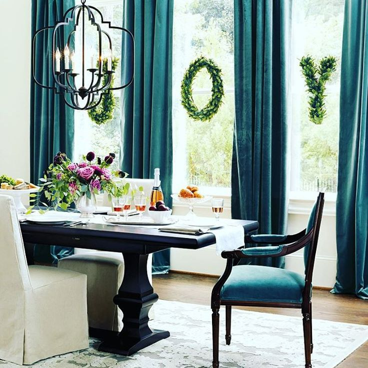Those Velvet Teal Curtains