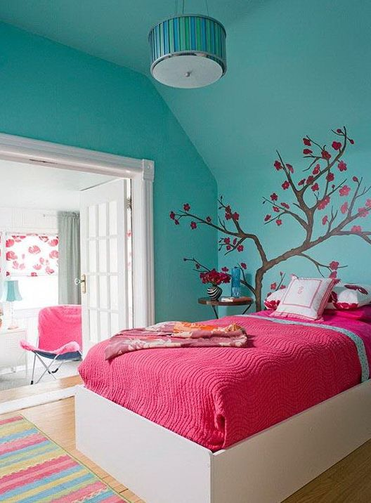 30 colorful girls bedroom design ideas you must like - Girls Bedroom Color