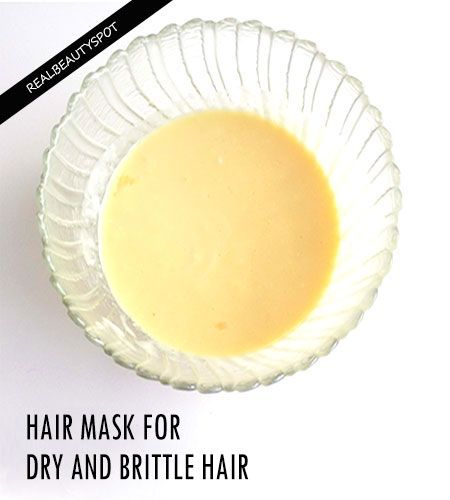 DIY HAIR PACK FOR DRY AND BRITTLE HAIR