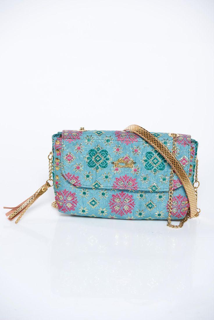 MissQ blue bag casual long chain handle