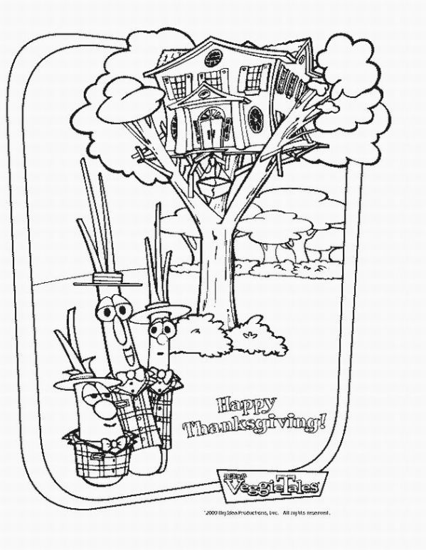 Veggietales Coloring Pages 4 599x774