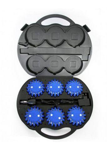 Trend LED Warnblitzleuchten Pannenleuchten Set blau Akkubetrieb Pannenleuchte Warnblitzleuchte PannenleuchtenSet