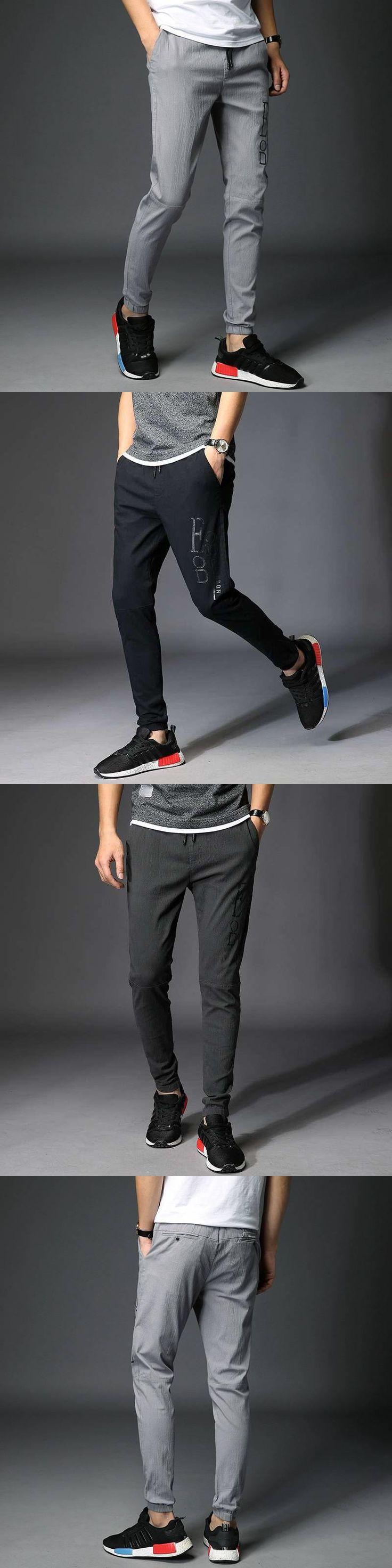 #1516 Harem pants men Elastic waist trousers Track pants Lightweight Spring summer Joggers Slim trousers men Pantalon hombre