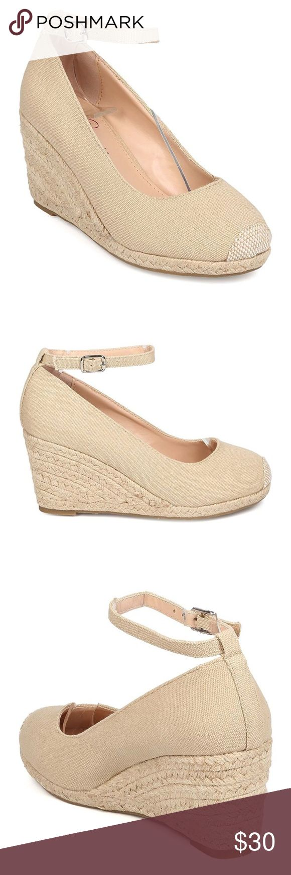Nude espadrille wedge heels Never worn, new in box! I love these shoes but I'll be danged if they weren't too small for me. **These shoes are marked size 9 but they are definitely not a size 9.** They should fit a size 8, *maybe* 8.5. Nude canvas upper wi