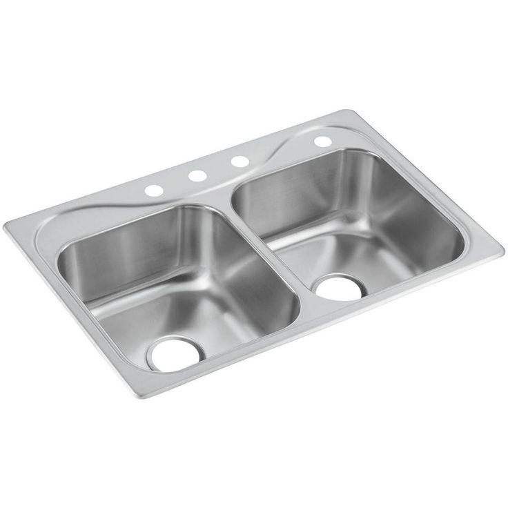Deep Stainless Steel Double Kitchen Sink