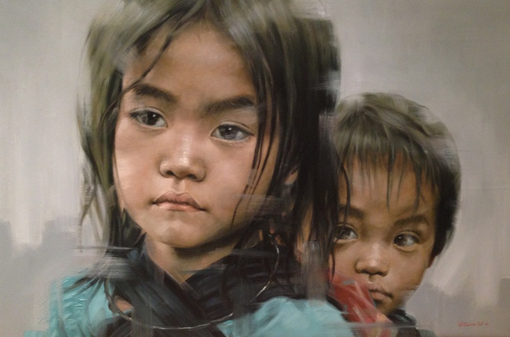 Oil on canvas... Just amazing and impressive Vietnamese artist...