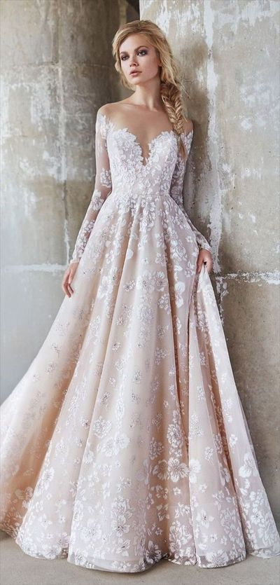 stunning wedding dress,sexy luxury evening dress,flower appliques evening dress, long sleeves prom dress ,sexy off shoulder bridal dres from Beauty Angel2176