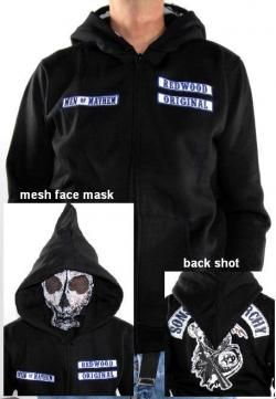 Sons Of Anarchy Hoodie - Reaper Face Mask