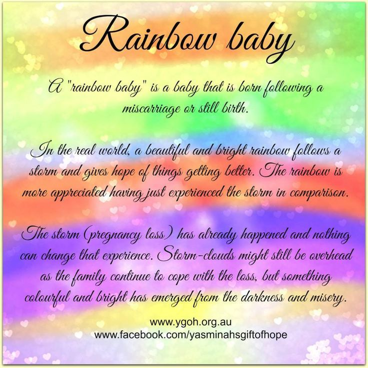 We're hoping for our rainbow baby