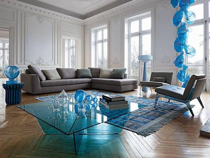 Tinted Blue Glass El Viento Inspiration Pinterest   Moderne Esszimmer Mobel  Roche Bobois