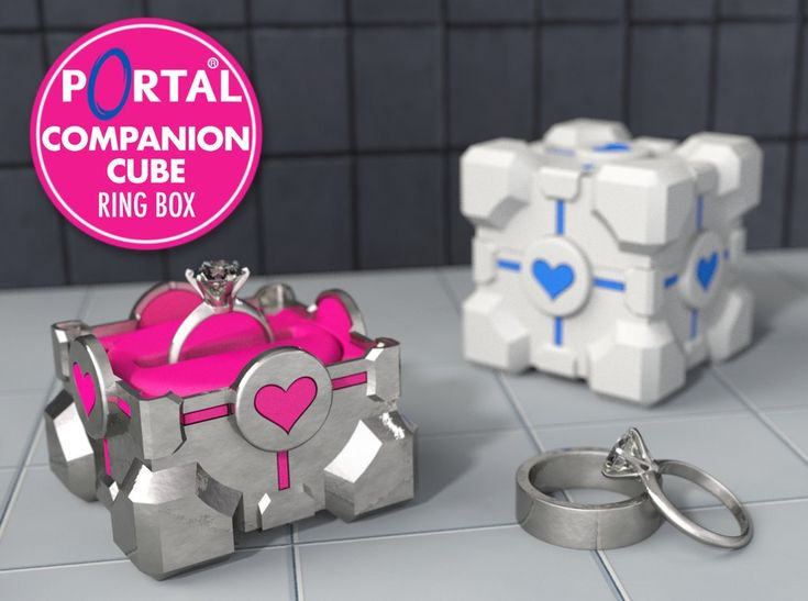 Portal ® Companion Cube Ring / Jewel Box – For Proposal, Engagement, and Wedding