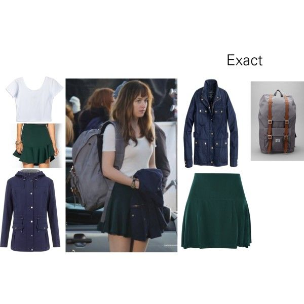 Anastasia Steele on Polyvore featuring moda, J.Crew, Four Seasons, Isabel Marant, Piperlime Collection and Herschel Supply Co.