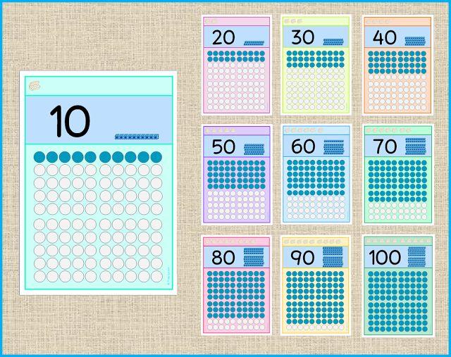 Frau Locke: Zehnerzahlen - Aushang im Klassenzimmer