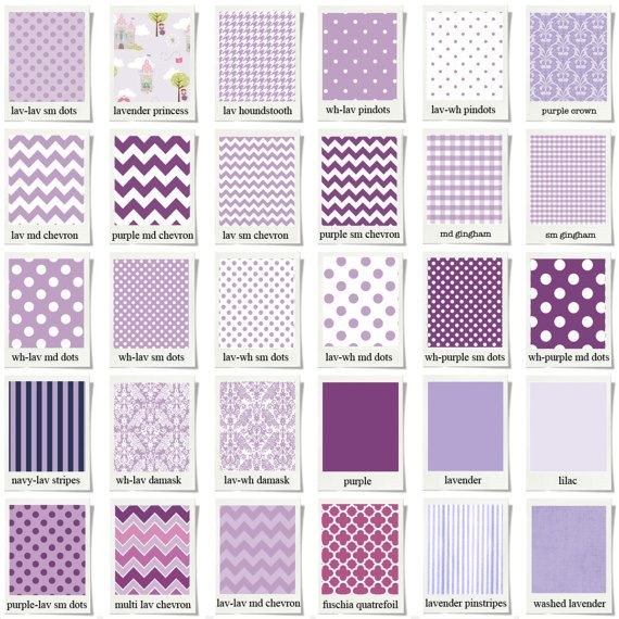 Custom Baby Bedding & Stokke Bedding // Purple // 100% Premium