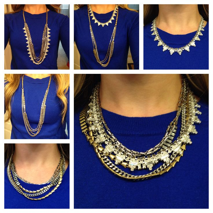The Sutton necklace. You can wear it 6 different ways ...
