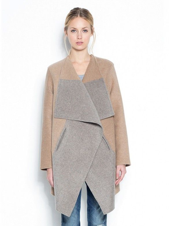 Learn how to make your blanket coat look chic and feel comfortable. // Cashmere Colour Block Coat at Closed