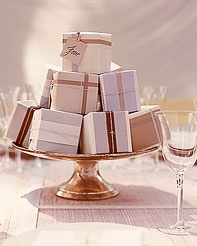 Favors as Centerpieces - Wedded Ever After: Non-Floral Centerpieces