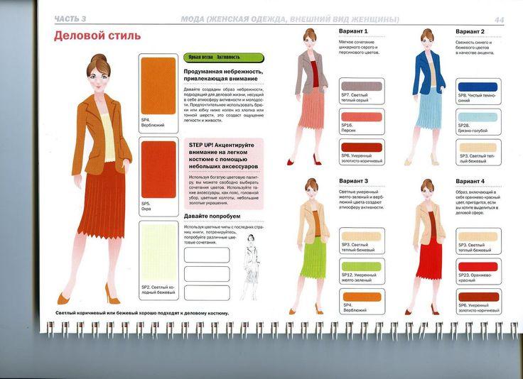 цветосочетаний в деловой одежде по цветотипам: весна