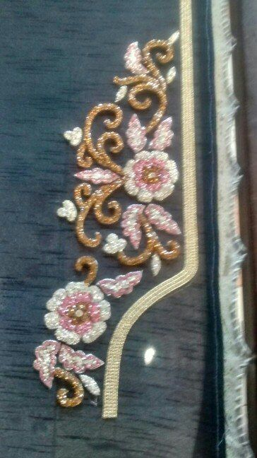 Neckline embroidery designs.Get urs made at The Paisley couture.Whatsapp at +91 7837069070
