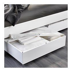 IKEA - VARDÖ, $30  Underbed storage box, white, , Turns the space under your bed into a smart place for storing.The textile lid keeps the dust out.