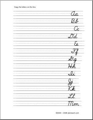 25+ best ideas about Cursive handwriting sheets on Pinterest ...