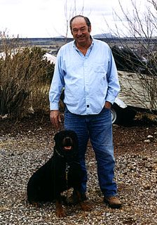 Bill Cooper and his dog Crusher