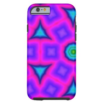 Colorful geometric pattern with different shapes. You can find blue circle, square and triangle on a pink background. You can also customized it to get a more personal look. #abstract #geometric #circle #triangle #square #trendy #pink #blue stylish-shapes