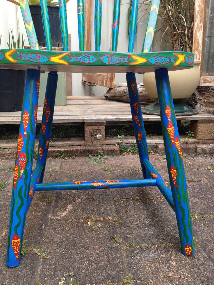 17 Best Images About Painted Chairs On Pinterest Hand