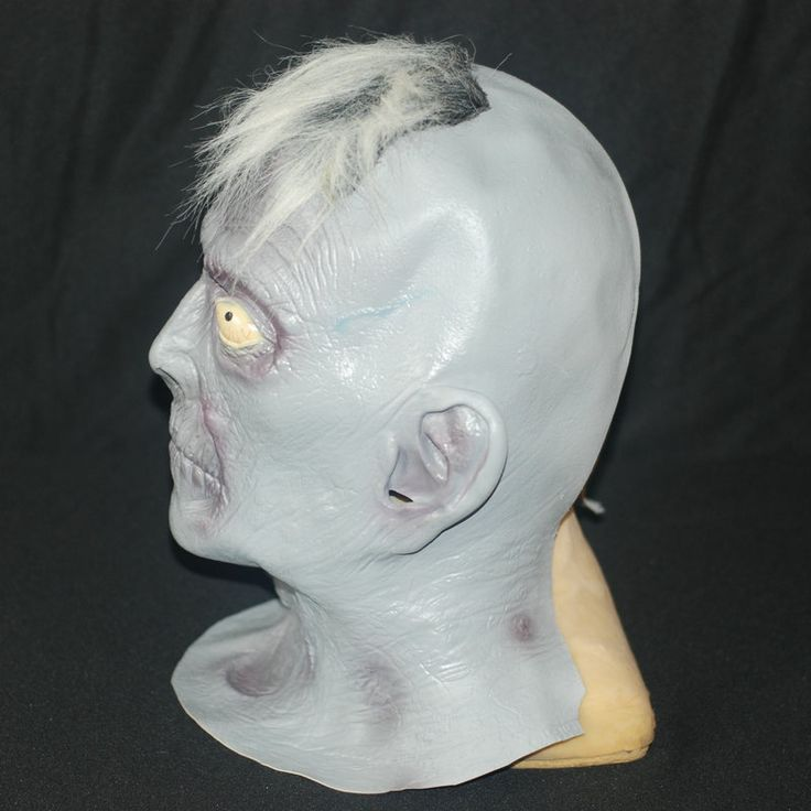 Scary Gray Old Man Masks Halloween Latex Party Mask Elderly Bald Cosplay Props Fancy Dress Carnival Deadpool Mask